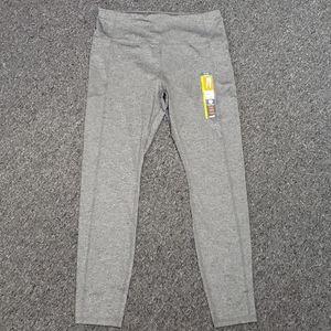 NWT Women's gray full length leggings size L